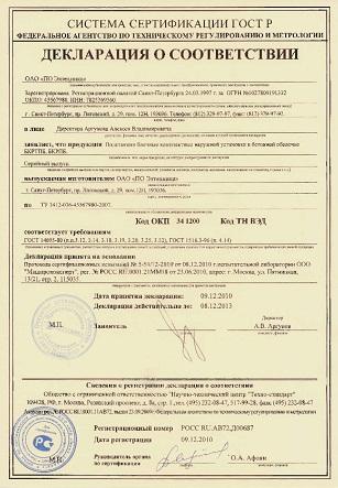 Прекращение действия регистрации декларации о соответствии.